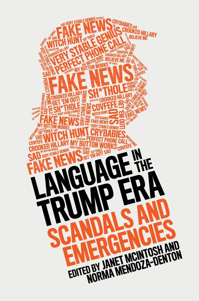 book cover of language in the trump era