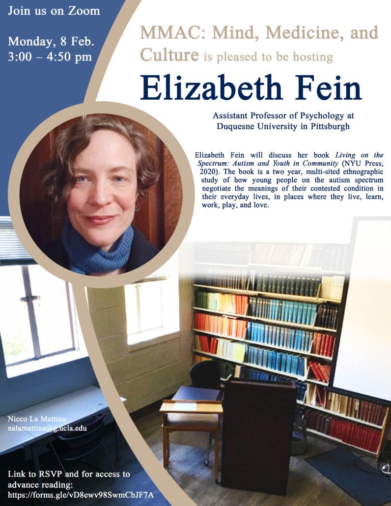 Flyer for Elizabeth Fein talk